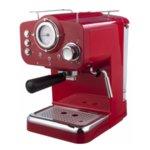Кафемашина Arielli KM-501R, Мощност 1100 W, 15 бара, Червена